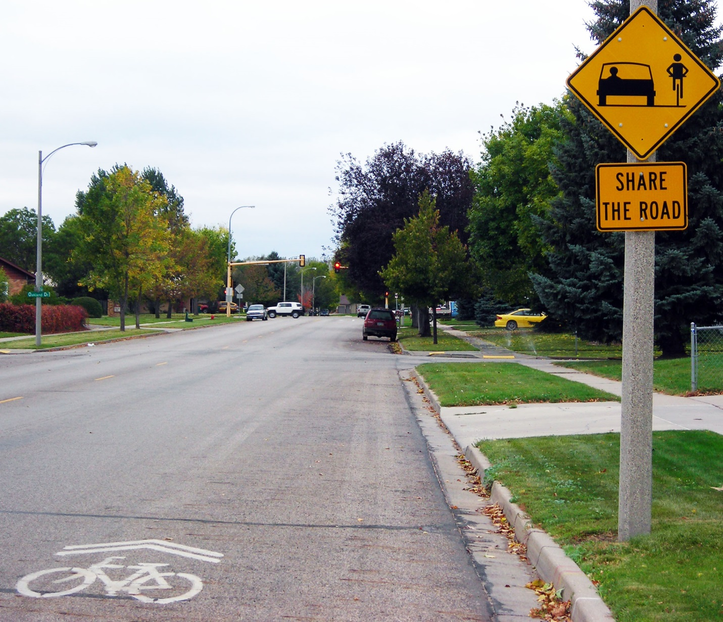 Sharrow and Share the Road Sign Example