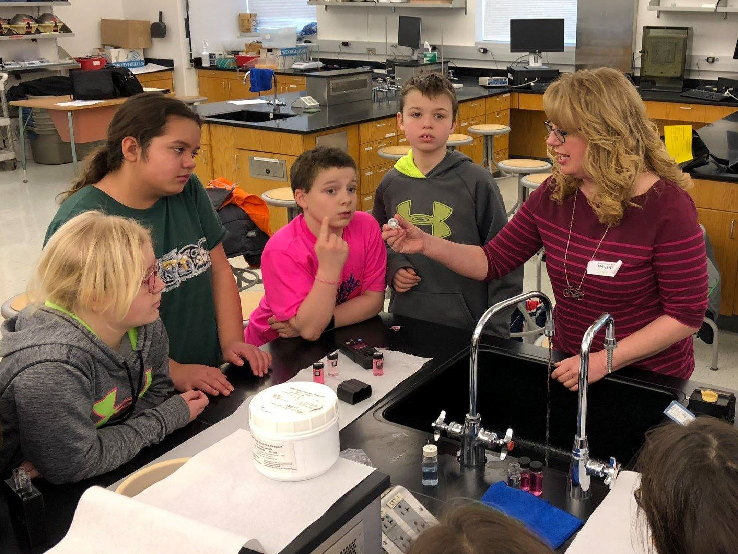 Water Plant Lab Tech at Gateway to Science Environmental Festival 2018