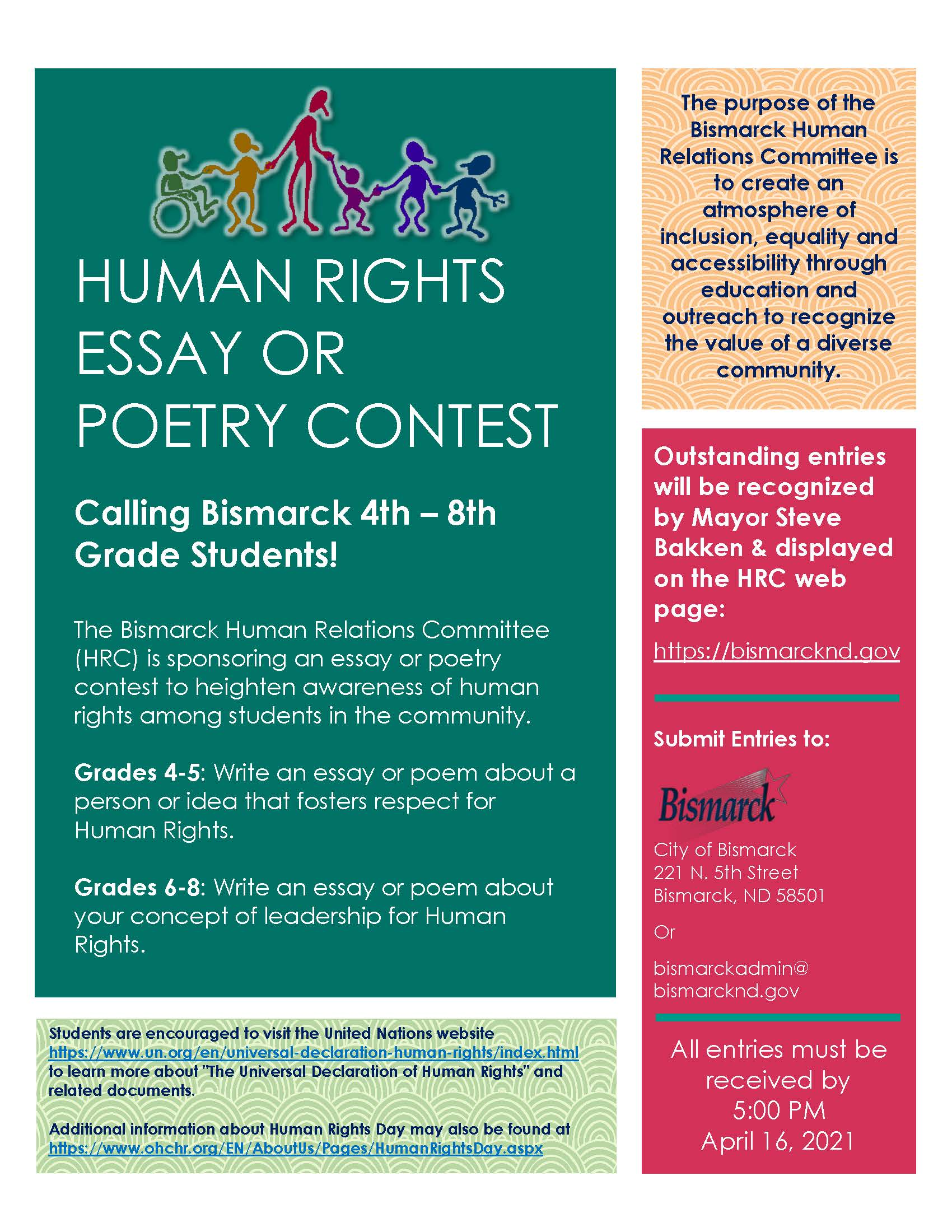 2021 Human Rights Essay and Poetry Contest
